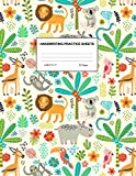 Handwriting Practice Sheets: Cute Blank Lined Paper Notebook for Writing Exercise and Cursive Worksheets - Perfect Workbook for Preschool, ... 3rd and 4th Grade Kids - Product Code A4 2149