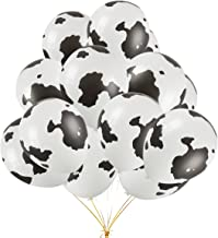 50PCS 12 Inch Funny Cow Print Latex Balloons Perfect For Children's Birthday Party Supplies Decorations