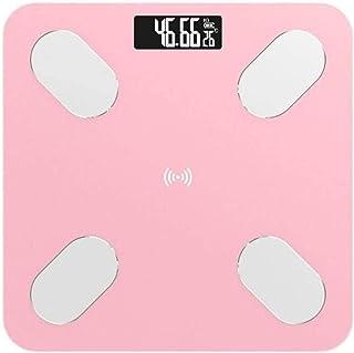 Plztou Salud y ensayos de básculas de baño Escala, Cuerpo de la Escala electrónica Digital Inteligente de Peso de la Grasa de Balance, Balance de Bluetooth MAX 180 kg, Blancos