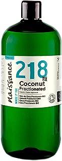 Naissance Aceite Vegetal de Coco Fraccionado BIO n. º 218-1 Litro - Puro, natural, vegano, sin hexano, no OGM - Ideal para aromaterapia, masajes y recetas artesanales.
