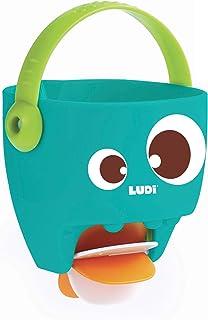 LUDI – Moulin à eau - jouets de bain, de plage et piscine – seau avec anse pour bébé - dès 10 mois - ref. 40059