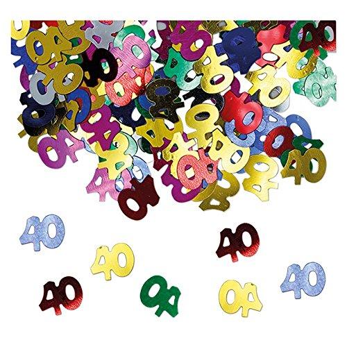 Confetti tafelconfetti voor 40 jaar, meerkleurig