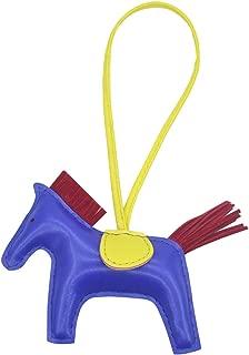 Horse Bag Charm for Women Rodeo Purse Handbag Leather Car Keychain Accessory