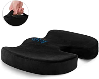 HOKEKI Seat Cushion Memory Foam Coccyx Cushion Designed for Back, Hip, and Tailbone Pain - for Office Chair,Car Seat, Wheelchair