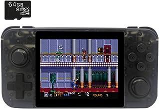 BITTBOY RetroGame RG350 Transparent Retro Gaming Portable Handheld Console OpenDingux CFW IPS Display 2500mAh Battery [RG-350-TB]