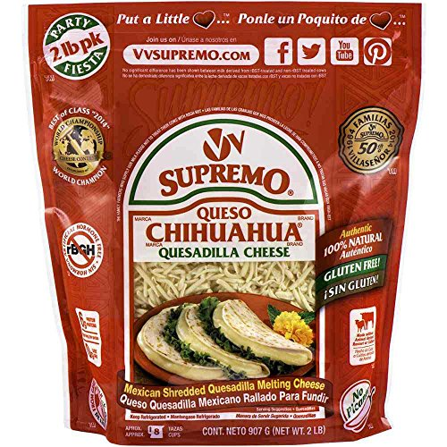 Supremo Queso Chihuahua Shredded Quesadilla Cheese, 2 Pound -- 6 per case.