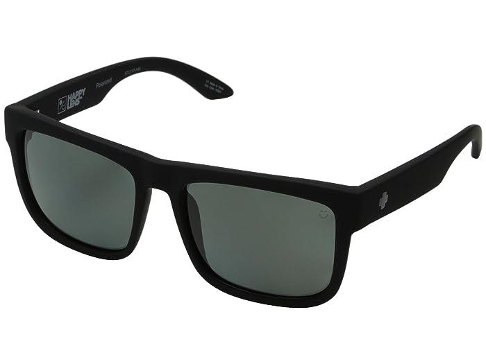 Spy Optic Discord (Soft Matte Black/Happy Gray Green Polar) Sport Sunglasses