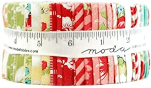 Shine On Jelly Roll (40 Pieces) by Bonnie and Camille for Moda 2.5 x 44 inches (6.35 cm x 111.76 cm) Fabric Strips DIY Quilt Fabric