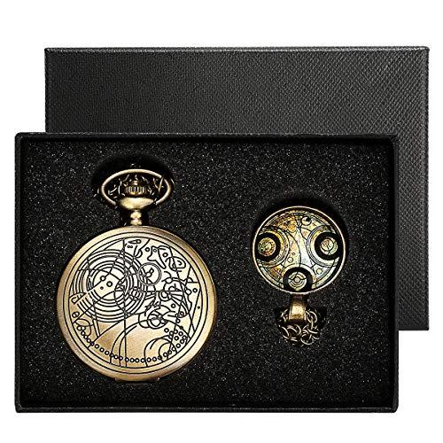 Reloj de bolsillo de Yisuya, con cadena colgante para...