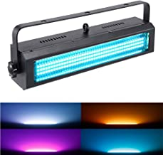 Strobe Light, MFL S100 132LED RGB Stage Lighting Strobe Blinde and Wash Light DJ Disco Lights Sound Activated Modes DMX control All in One for Dj Party Stage Lives Concert