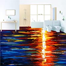 Giow HD Colorful sunset painting with abstract oil 3D floor anti wall non-slip bedroom kitchen wall bathroom, 300 * 210cm