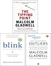 Malcolm Gladwell Collection 3 Books Set (The Tipping Point, Blink The Power of Thinking Without Thinking, Outliers The Sto...