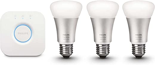 NOB Philips 456194 Hue White and Color A19 Starter Kit LED Bulb(Renewed)