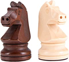 Amerous Wooden Chess Pieces - 3.75inch King Tournament Wooden Chessmen with 2 Extra Queens for Replacement of Missing Pieces
