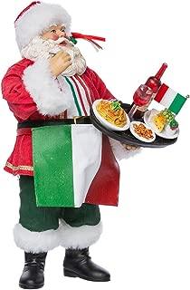 Kurt Adler Musical Fabriche Italian Santa Figurine, 10.5-Inch