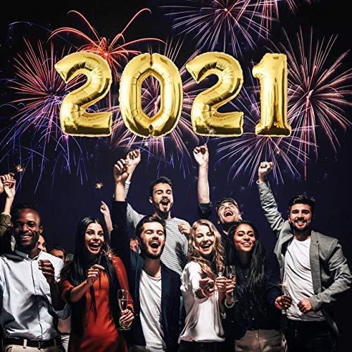 Zahlenballon Heliumballon Folienballon Happy New Year Silvester Deko Neujahr Silvesterparty 2021