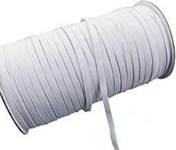100 Yard Braided Crafts Soft 1//8 Inch Rope for Knit Sewing DIY Masks Ear Rubber Bands for Nose Wire Material Handmade Holder Flat Thin Elastic 1//4 Line Round Elastic String Stretchy Cord