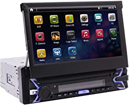 Android 9.0 Pie Single Din Car Stereo 7 Inch Flip Out Capacitive Touch Screen Support..
