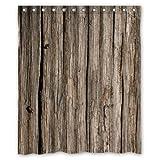 shower curtain Bienvenue. Impermeable decorado madera sintética de arte cortina de ducha de 60cm x 72cm - 17