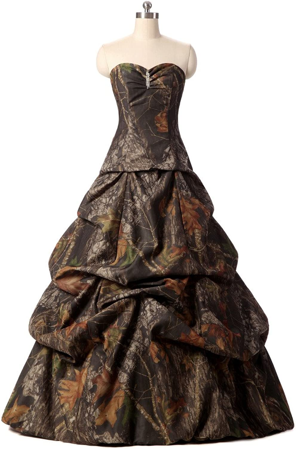YOUAREFACNY Womens 2017 Special Camouflage Wedding Gowns Strapless Bridal Dress New