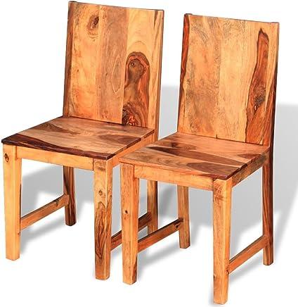 Amazon.es: sillas madera - Rústico / Comedor / Muebles ...