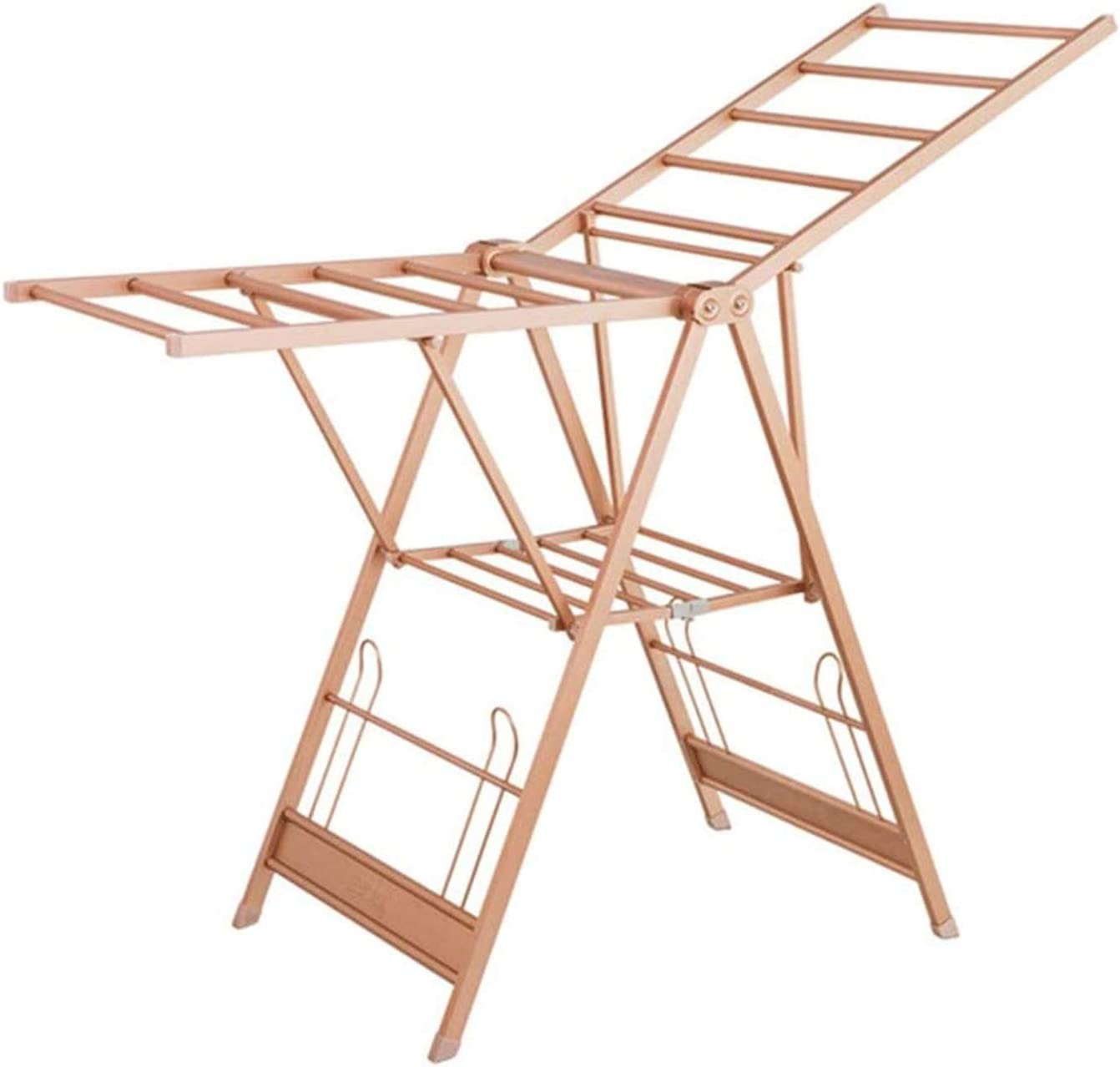 Clothes Drying Rack Max 50% OFF Laundry Storage Topics on TV Alum Products Folding Winged