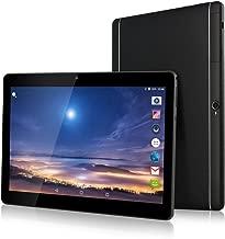 10 Inch 3G Phablet Android 7.0 Quad Core 32GB ROM 2GB RAM Call Phone Tablet PC, Unlocked Dual Sim Card Slots, Bluetooth, GPS, WiFi, Netflix YouTube Resolution 1920X1080 Display IPS Screen (Black)