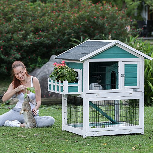 Petsfit 42.5 x 30 x 46 inches Bunny Cages,Outdoor Rabbit Hutch