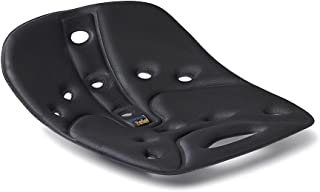 BackJoy SitSmart Relief Fabric Posture Seat Cushion, Used for Lower Back Pain Relief, Posture Correction, for use on Car Seats, Office Chair, Hard Surface Chairs, Desk Chairs, Portable, Black Color