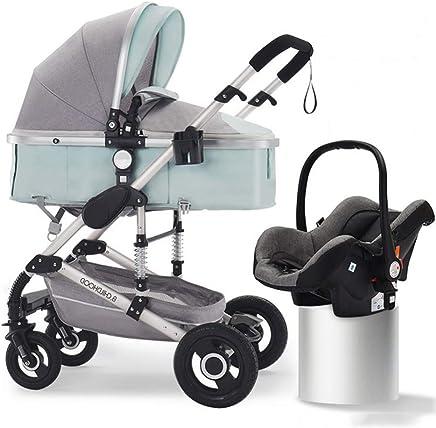 papay Passeggino Pieghevole Multifunzionale può Sedersi Ammortizzatore A Due Vie,Silvertubefreshgreen+safetybasket