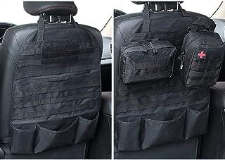 LIVIQILY Molle Gun Bag Holster Case Front Seat Storage Gun Rack Sling Pistols Bag Car Seat Back Hunting Bags Organizer with Pockets