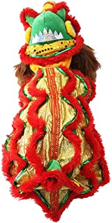 Smok kot pies kostium lew taniec odzież, outdoorowe ciepłe psy zimowe płaszcze chiński Nowy Rok styl zabawne rzeczy kostiu...