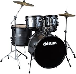 ddrum D2 Player Series Complete Drum Set with Cymbals, Grey Pinstripe