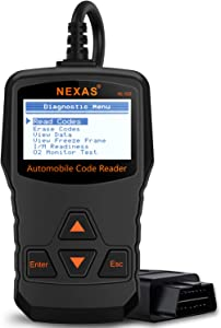 Car Scan Tool NEXAS NL100 Reset Engine Warning Light OBDII EOBD Reader  Support Emission Smog Check Diagnostic Scanner Tool with Fast Battery Health Analysis