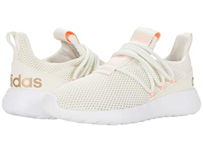 adidas Kids Lite Racer Adapt 3.0 (Little Kid/Big Kid) (Chalk White/Chalk White/Light Flash Orange) Kids Shoes