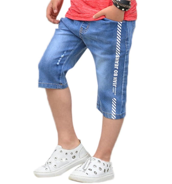 AMIGOYO 子供服 男の子 デニムパンツ ショートパンツ ジュニア ショート ジーンズ キッズ ボーイズ ボトムス カジュアル ハーフパンツ 5分丈 短パン 通学 通園 かっこいい