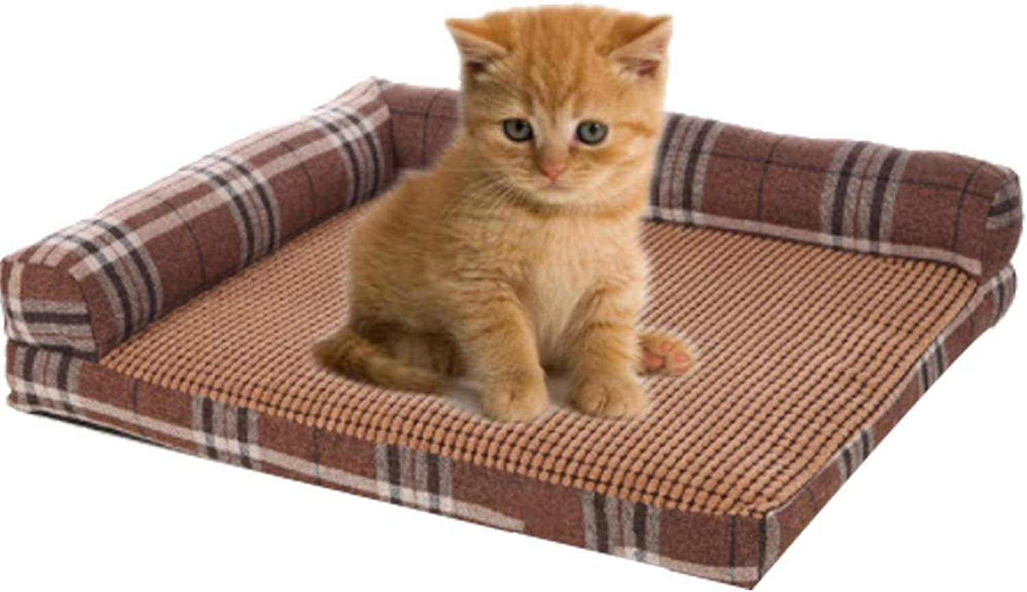 Pet Dog Bed, LShaped Lounge Pet Bed with Breathable Cool Mat for Dogs And Cats