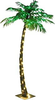 LIGHTSHARE 5FT Artificial Lighted Palm Tree, 56LED Lights, Decoration for Home,Party, Christmas, Nativity, Outside Patio