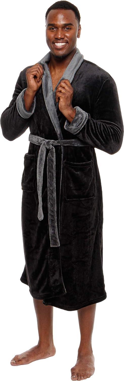 Ross Max 83% OFF Michaels Mens Robe - Mid Plush Genuine Free Shipping Length Bathro Shawl Collar