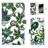 WHITENUTS iPhone7 Plus iPhone8Plus ケース 手帳型 フラワー刺繍プリント グリーン TC-D0293511/LL