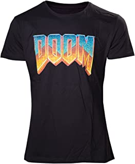 Meroncourt Men's Doom Classic Logo Short Sleeve T-Shirt