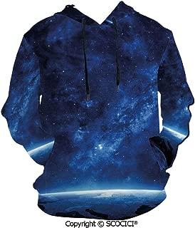 UHOO Earth View at Night Hoodies 3D Print Sweatshirt for Men
