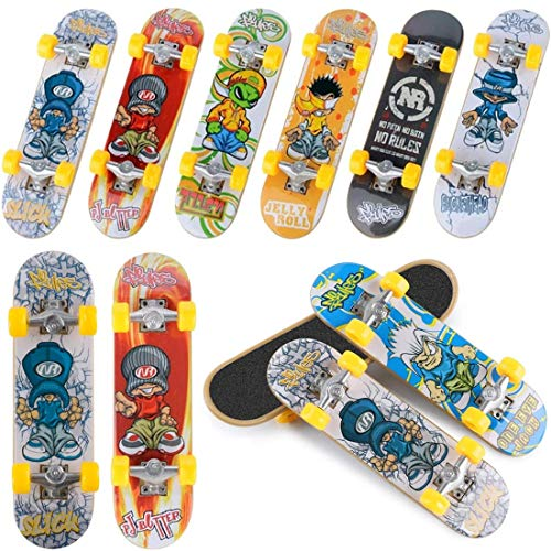 QNFY Mini Fingerboards, 6 Pack Patinetes de Dedos Profesional Finger Skateboard Skate...
