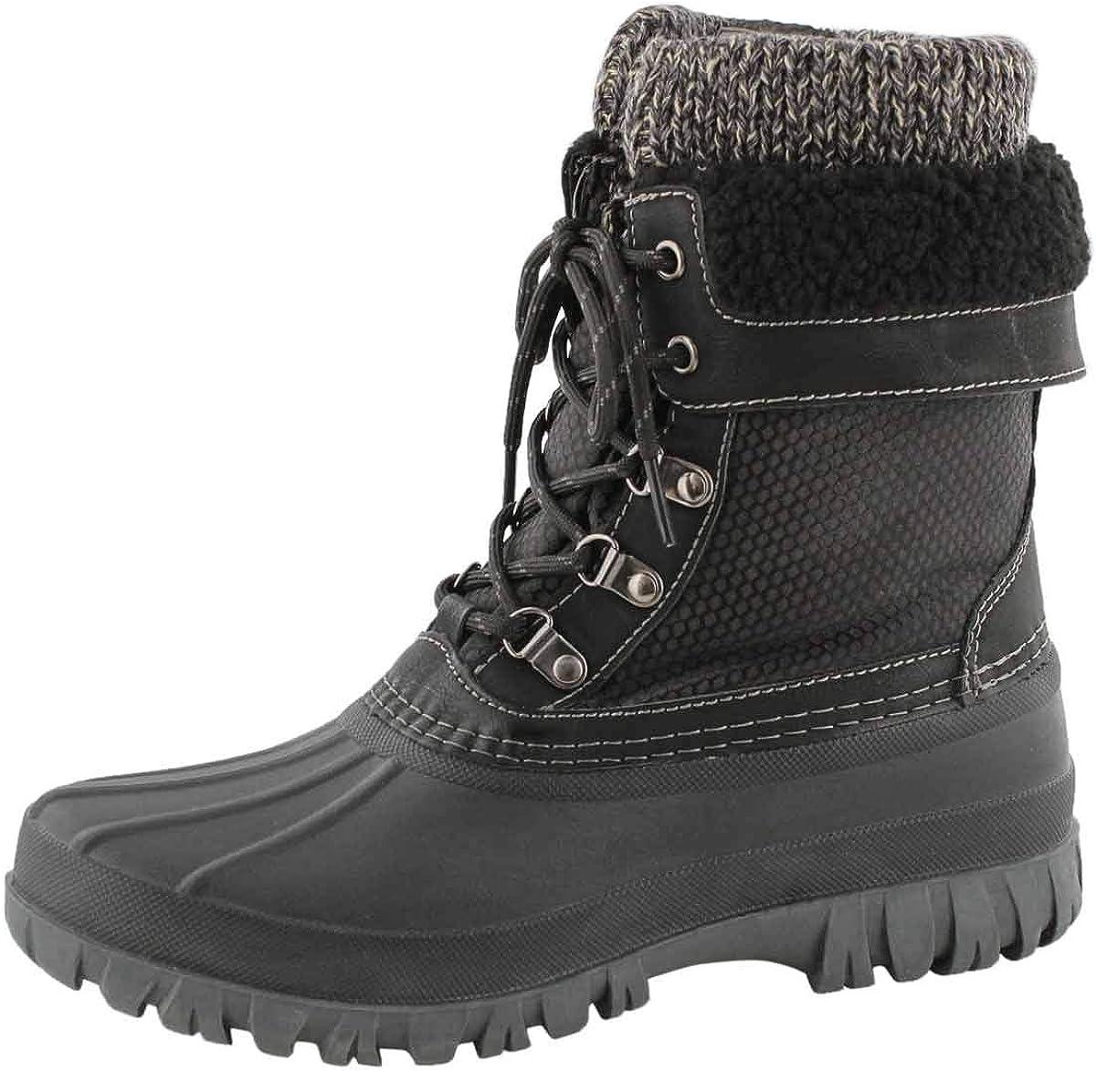 Cougar Women's Creek Lace Up Waterproof Winter Boot Grey 9 Medium US