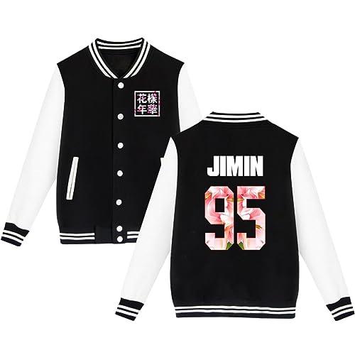 babyHealthy BTS Baseball Jacket Uniform Bangtan Boys Suga Jin Jimin Jung Kook Sweater Coat