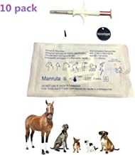 10 Pack Pet ID Microchip Tags with Syringe ISO 11784/11785 and FDX-B Standard 134.2Khz for Animal Identification 2.12X12mm
