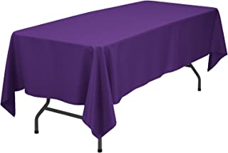 VEEYOO 60 x 102 inch Rectangular Solid Polyester Tablecloth for Wedding Restaurant Party Rectangle/Oblong/Oval Table, Purple