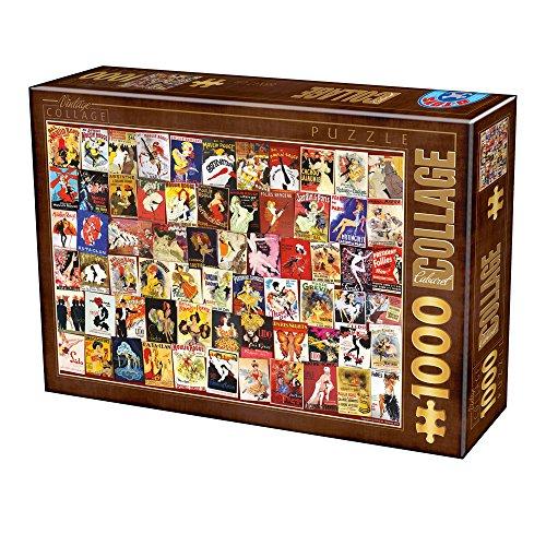 Unbekannt Puzzle 1000 Teile - Vintage Collage - Cabaret
