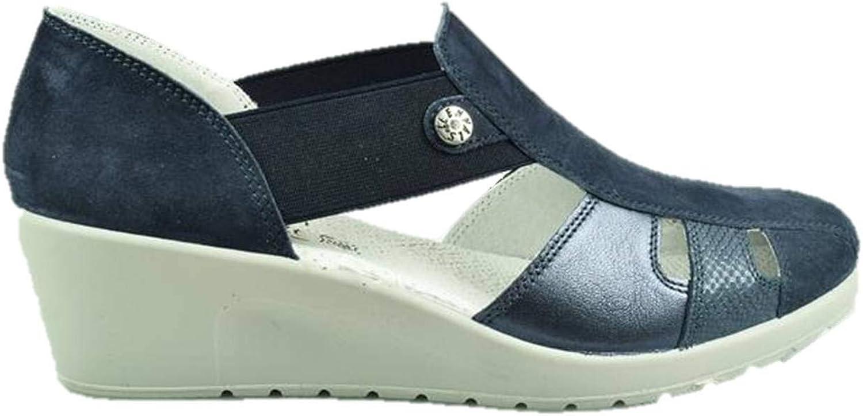 ENVAL SOFT 3260111 Wedge Heel Sandals Slip on Sneakers bluee Woman Made in
