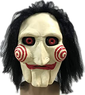 Puppet Mask, Halloween Horror Puppet Mask Costume Cosplay Masquerade Party Props for Saw Billy,One Size for Adult and Kids